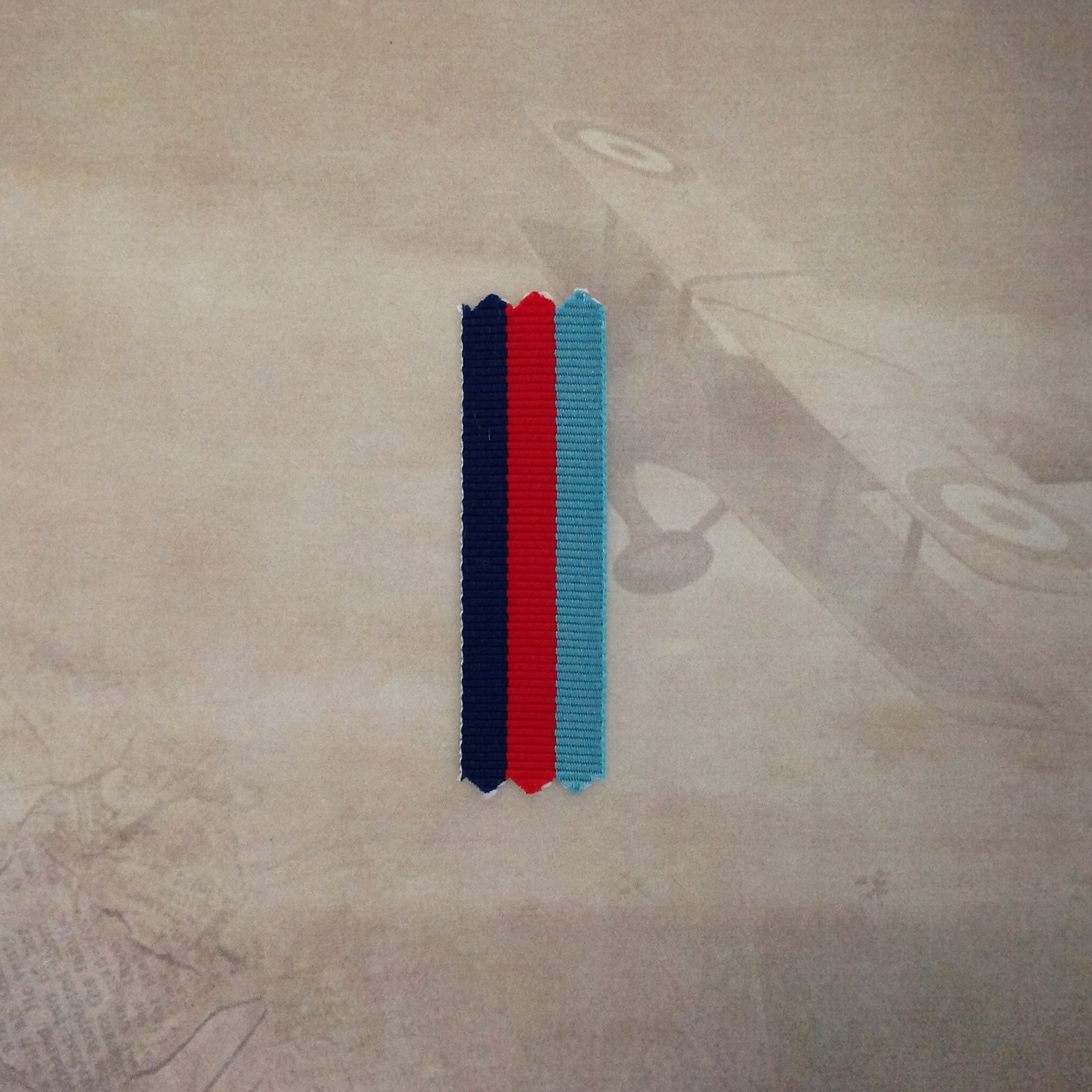 """1x 6/"""" piece  of ORIGINAL MINIATURE ribbon for the WWII AUSTRALIA SERVICE MEDAL"""